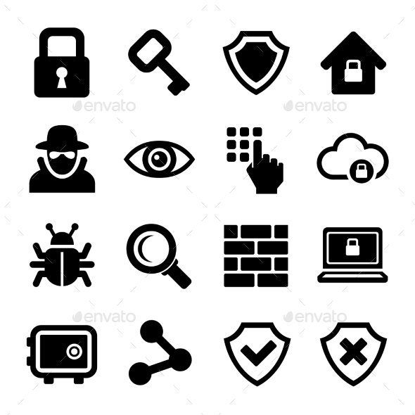 Security Icons Set - Technology Icons