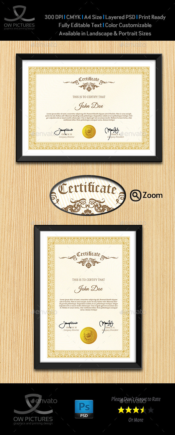 Multi Purpose Certificates Template Vol.3 - Certificates Stationery