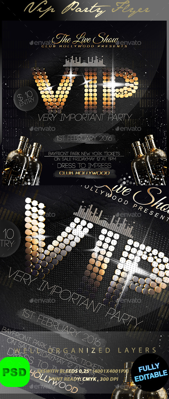 VIP Party - Events Flyers