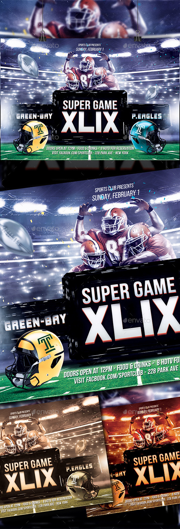 Super Ball XLIX Flyer  - Sports Events