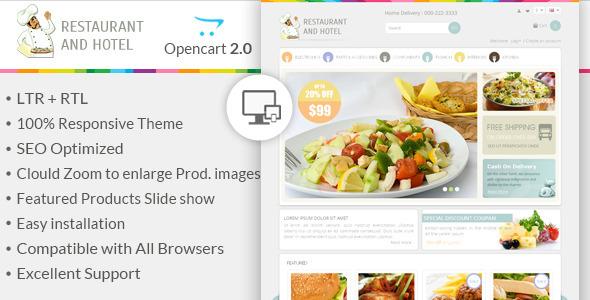 Restaurant – Responsive OpenCart Theme