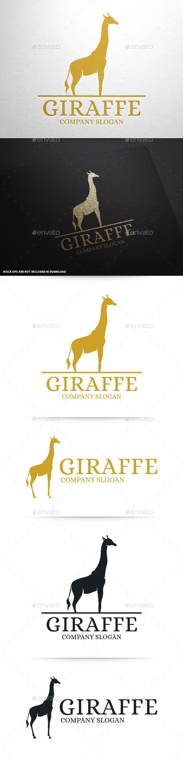 Giraffe Logo Template - Animals Logo Templates