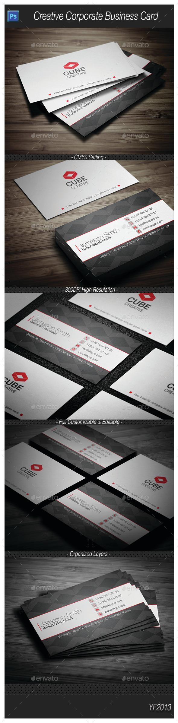 Creative Corporate Business Card 1 - Corporate Business Cards