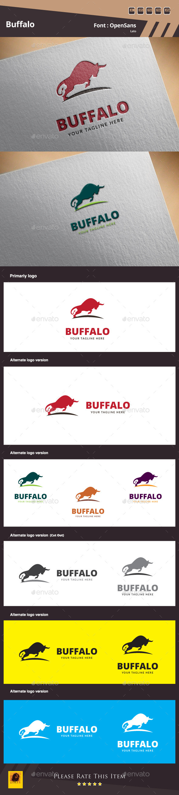 Buffalo Logo Template - Animals Logo Templates
