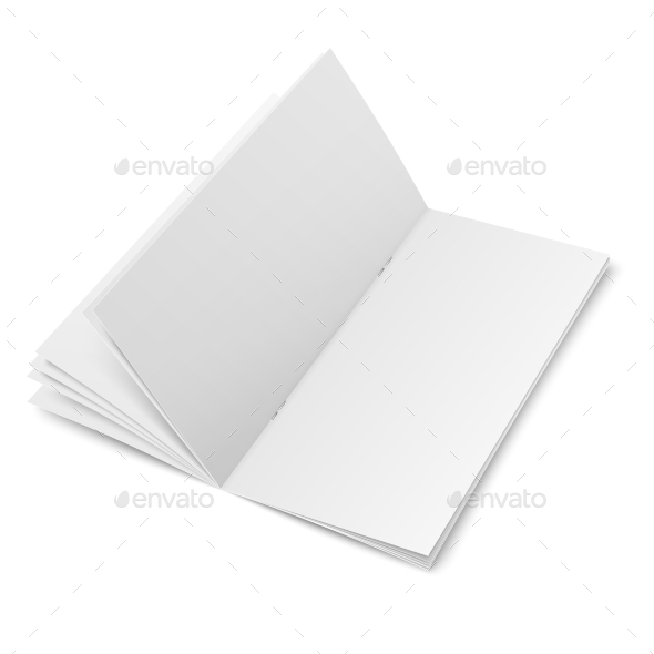 Multi-Page Blank Brochure  - Man-made Objects Objects
