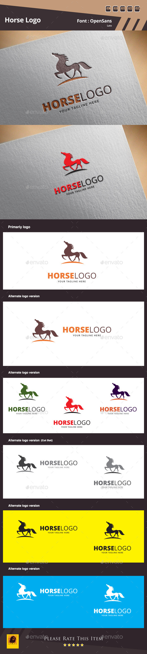Horse Logo Template - Animals Logo Templates