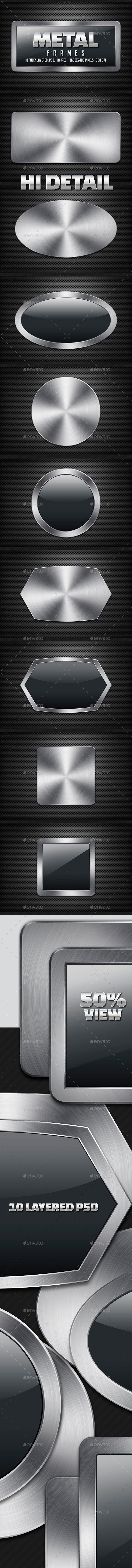Metal Frames - Backgrounds Graphics