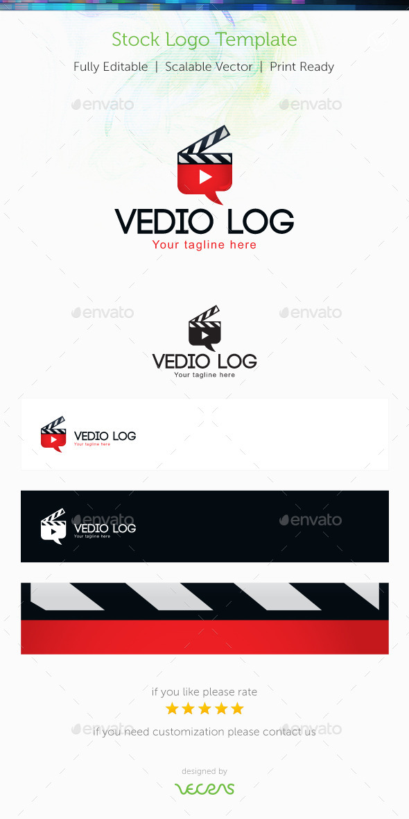 Video Log Stock Logo Template - Symbols Logo Templates