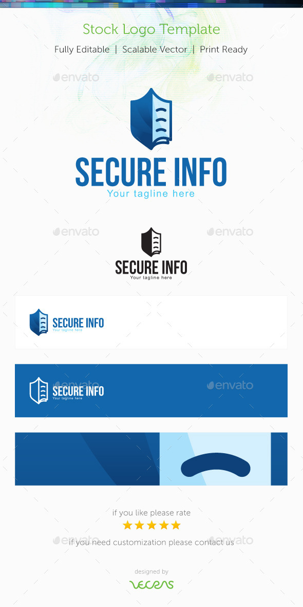 Secure Info Stock Logo Template - Symbols Logo Templates