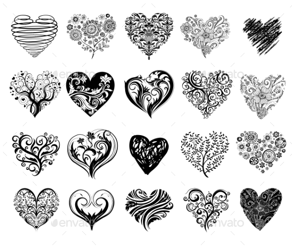 Tattoo Hearts - Valentines Seasons/Holidays