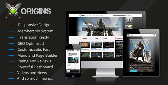 Origins - Video Games Portal - CodeCanyon Item for Sale
