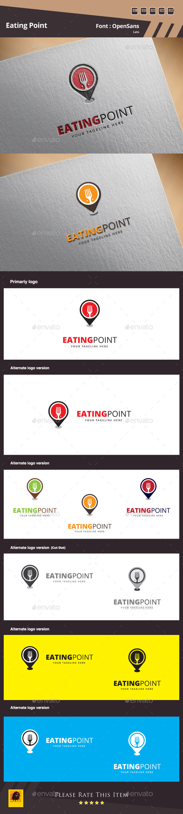 Eating Point Logo Template - Food Logo Templates