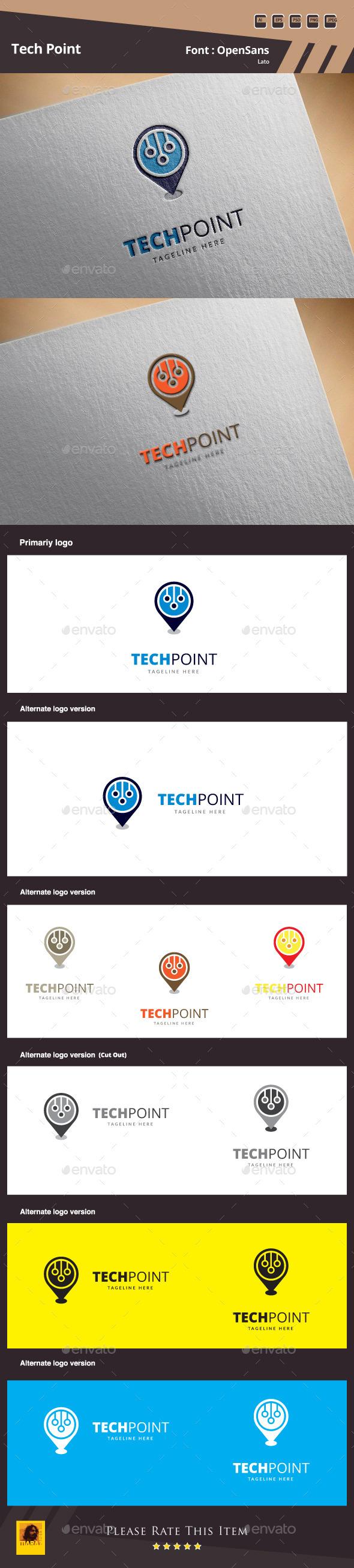 Tech Point Logo Template - Symbols Logo Templates