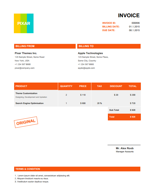 Superior Screenshots/00_Application.png ... Idea Invoice Pdf Generator