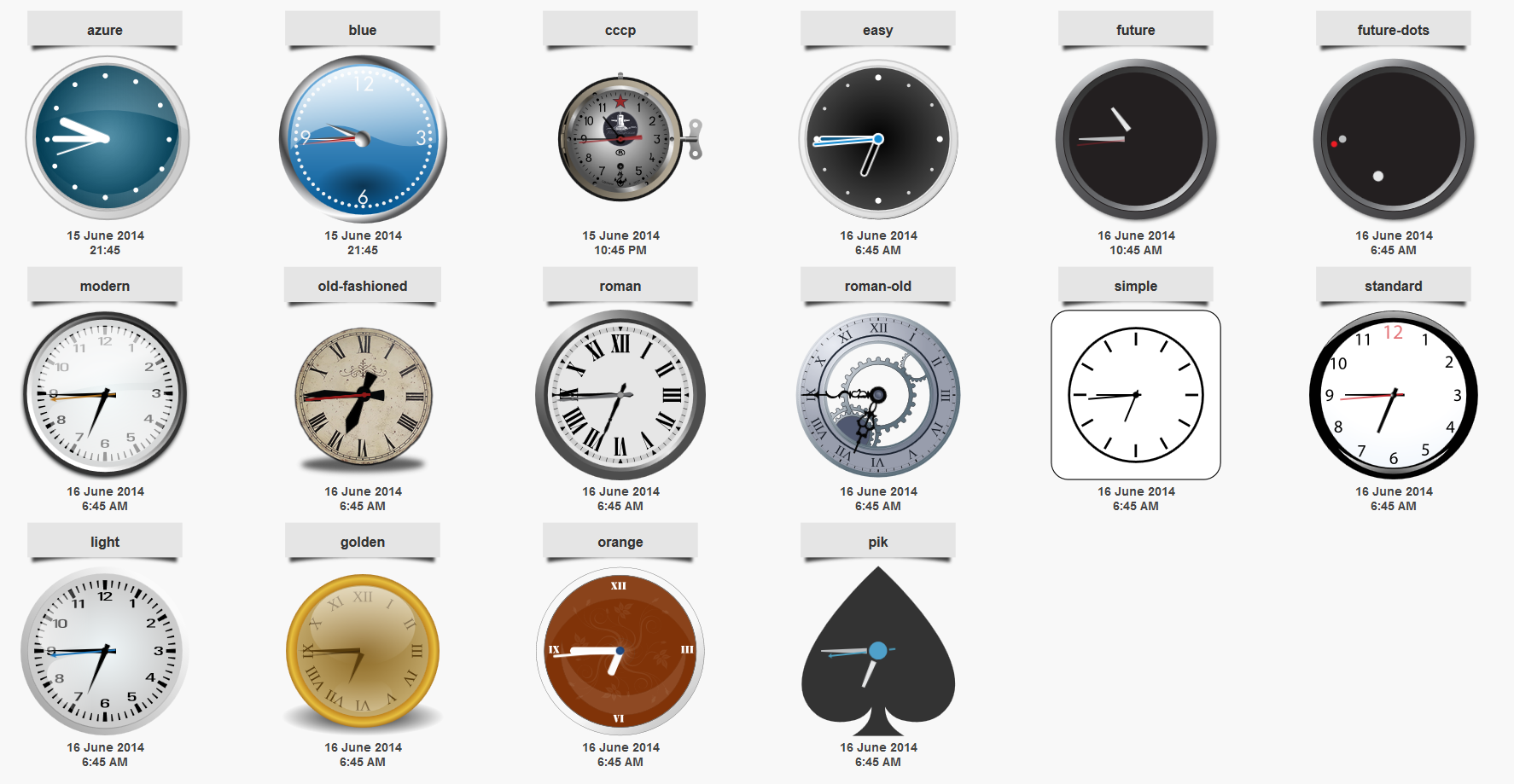 sClock Mega Package Analog Clocks w. TimeZones