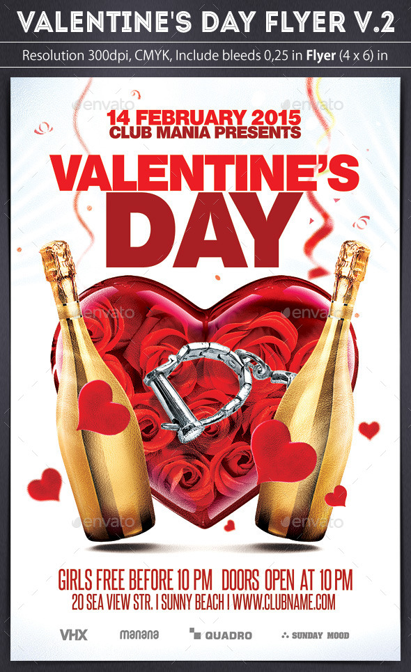 Valentine's Day Flyer v.2 - Clubs & Parties Events