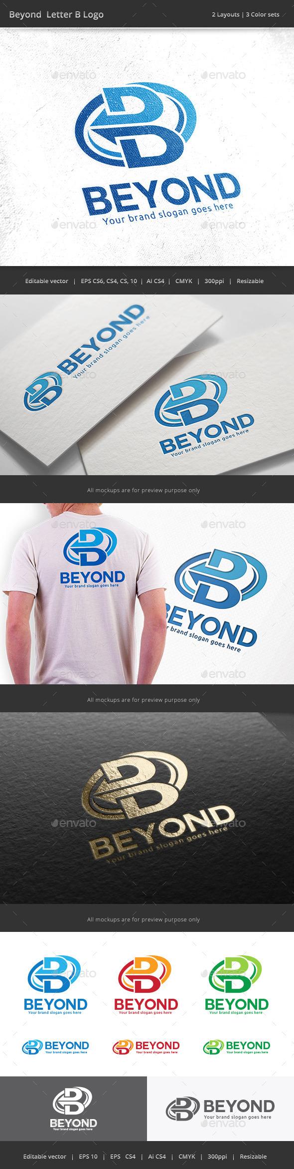 Beyond Letter B Logo - Letters Logo Templates
