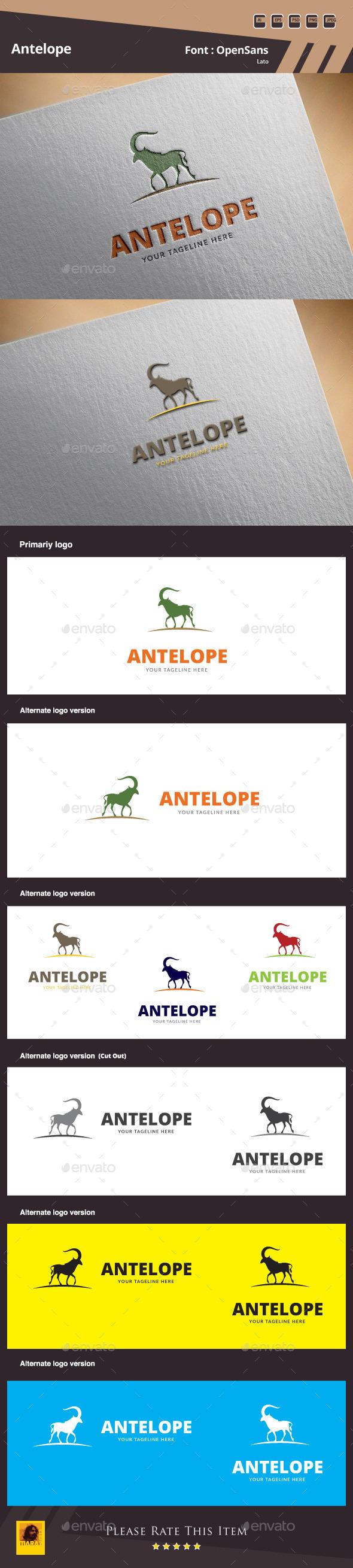 Antelope Logo Template - Animals Logo Templates