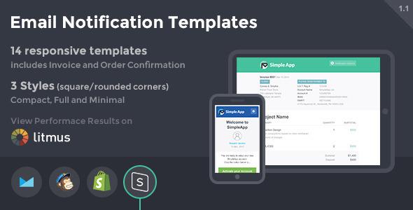 SimpleApp – Email Notification Templates