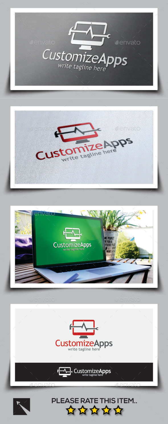 Customize Apps Logo Template - Objects Logo Templates