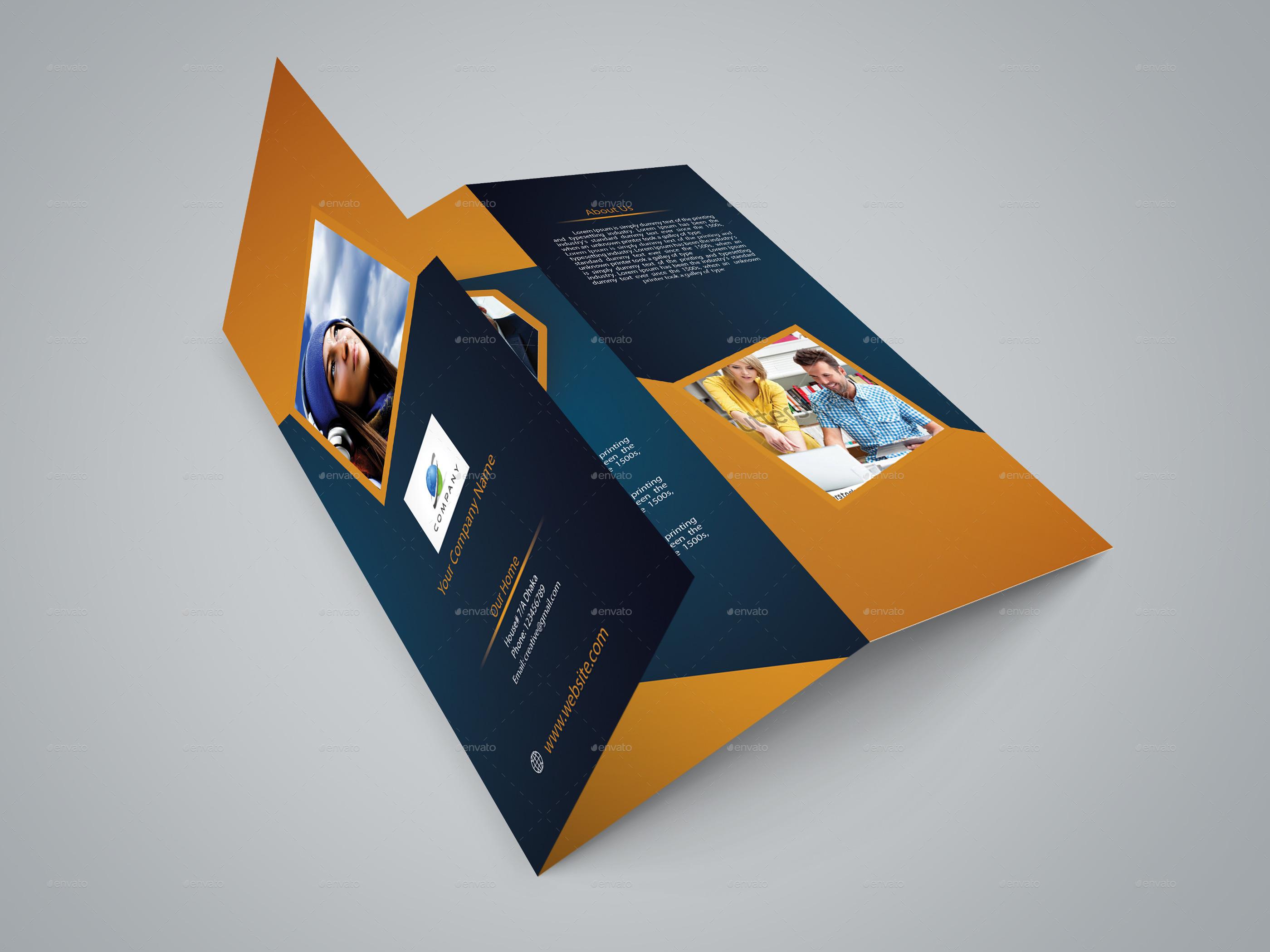 Corporate Business Agency Tri-fold Brochure