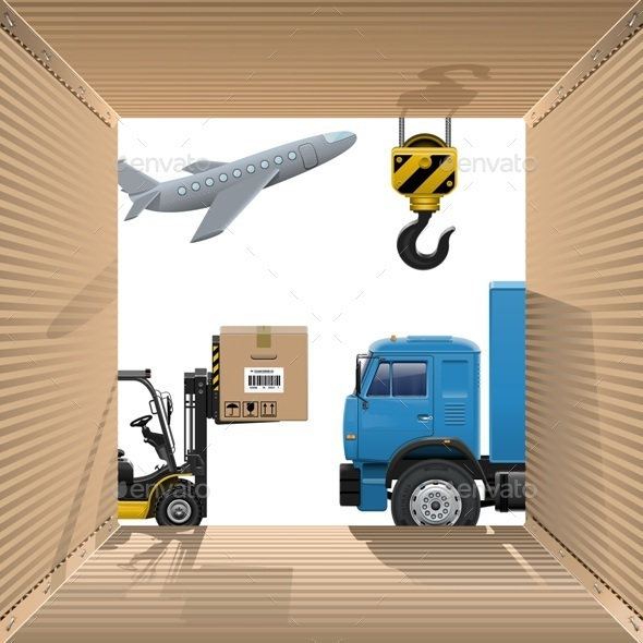 Vector Shipping Concept - Industries Business