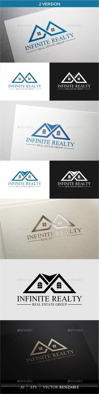 Infinite Realty Logo - Buildings Logo Templates