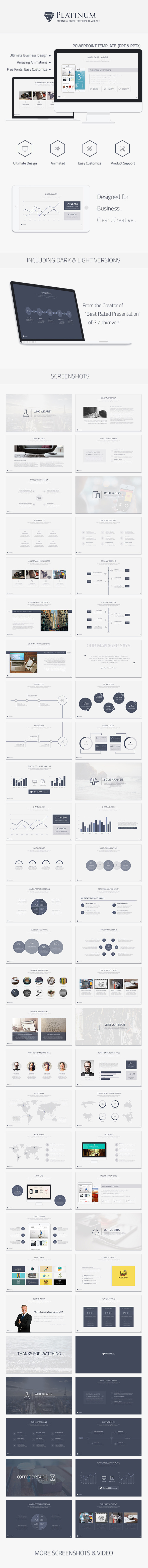 Platinum Business Powerpoint Template - Business PowerPoint Templates
