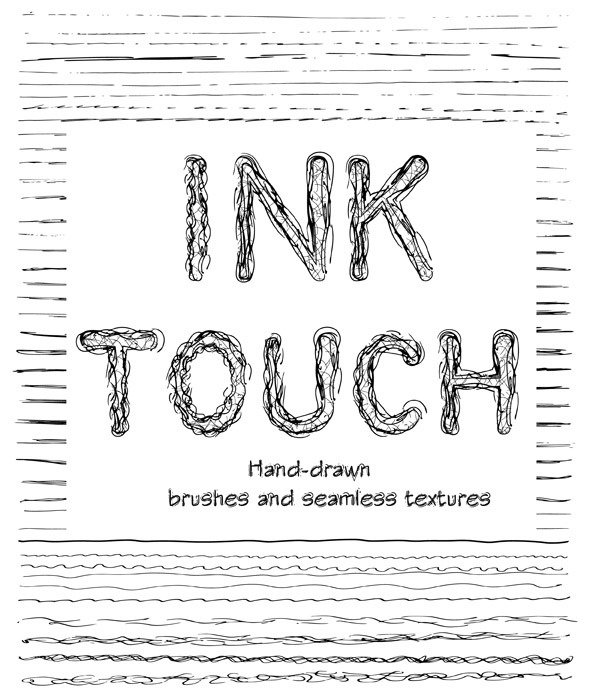 Creative Ink Sketch Lines and Patterns - Brushes Illustrator