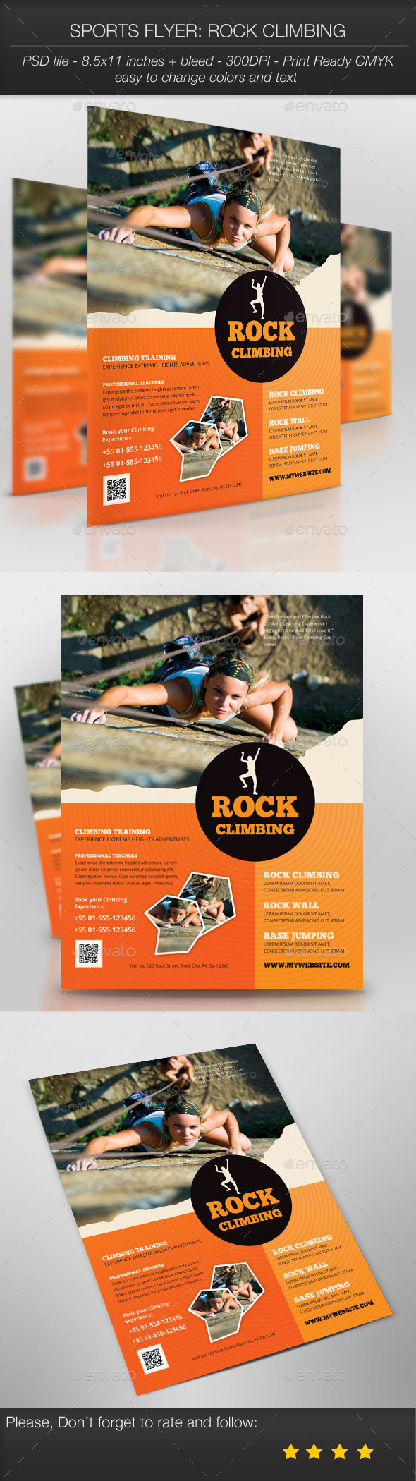 Sports Flyer: Rock Climbing - Sports Events
