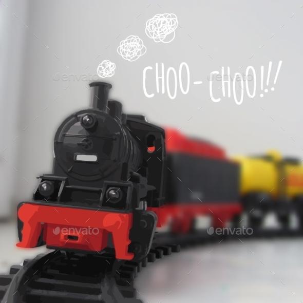 Steam Locomotive - Travel Conceptual