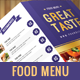 Simple Food Menu - GraphicRiver Item for Sale