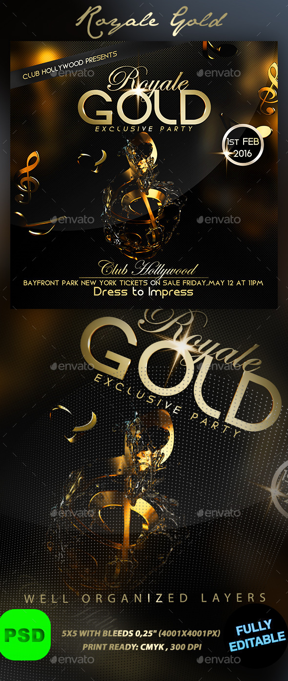Royale Gold - Events Flyers