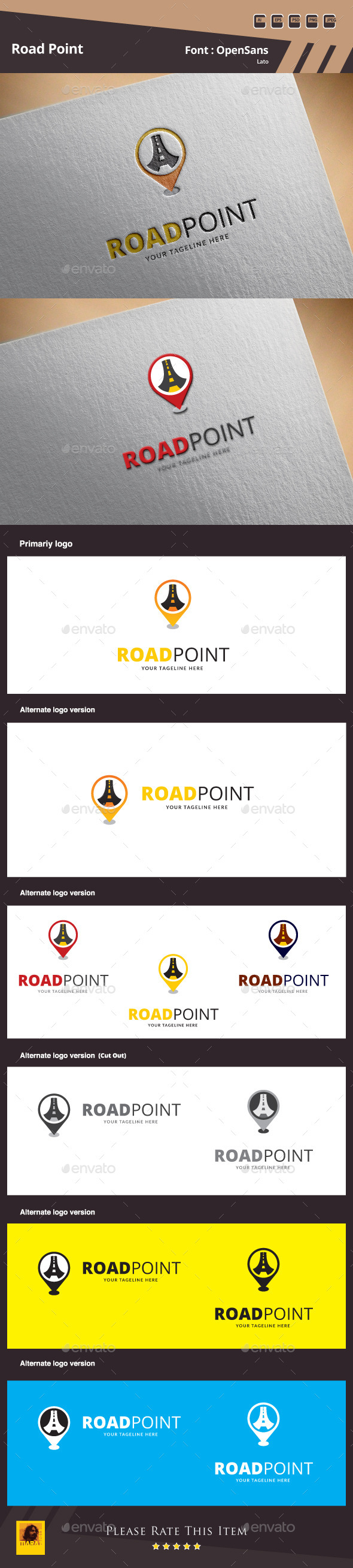 Road Point Logo Template - Symbols Logo Templates
