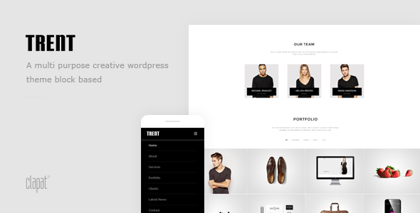Trent – WordPress Responsive One Page Parallax