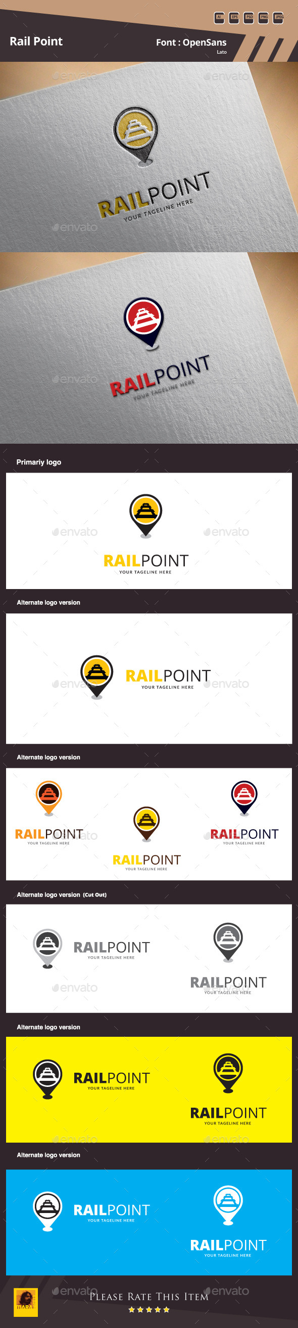 Rail Point Logo Template - Symbols Logo Templates