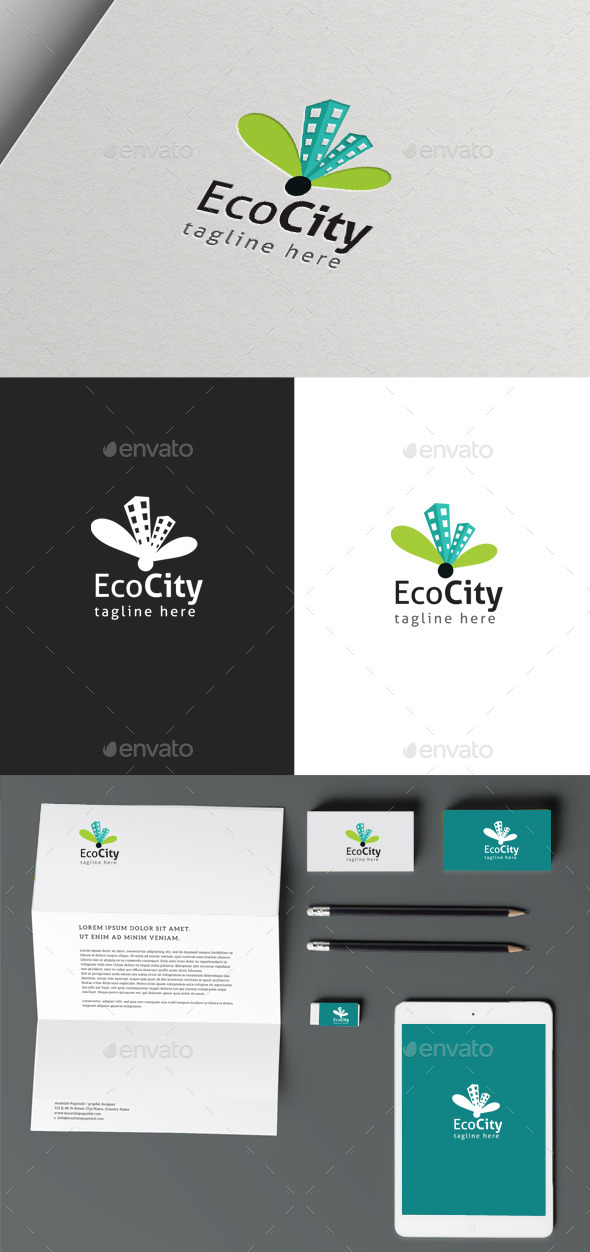 Eco City - Buildings Logo Templates