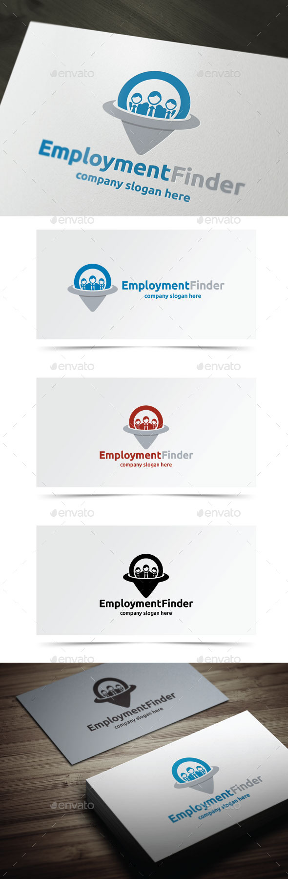 Employment Finder - Objects Logo Templates