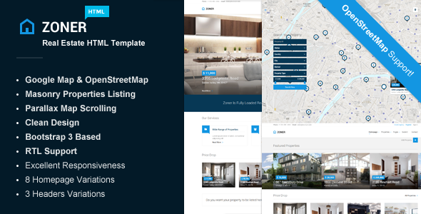 Zoner – Real Estate HTML Template