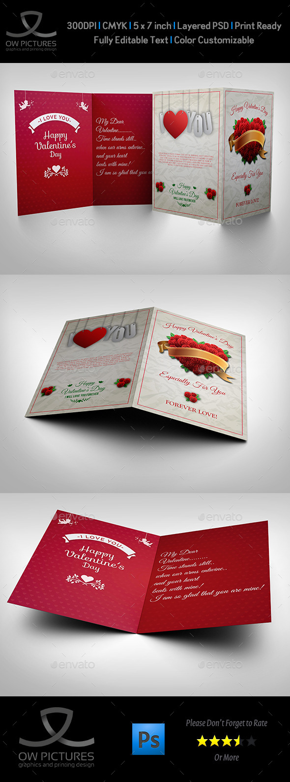 Valentine Day Greeting Card Template - Greeting Cards Cards & Invites
