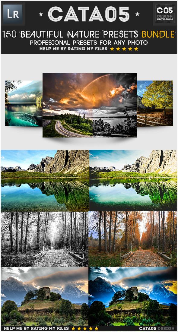 150 Pro Beautiful Nature Presets Bundle - Landscape Lightroom Presets