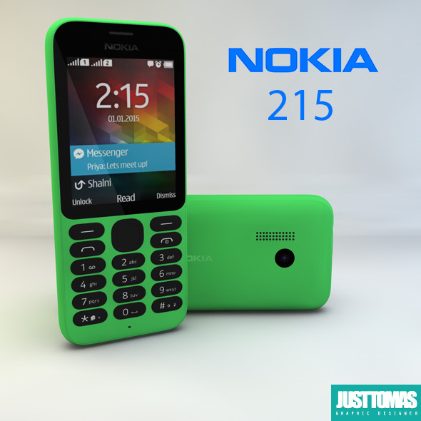 Nokia 215 - 3DOcean Item for Sale