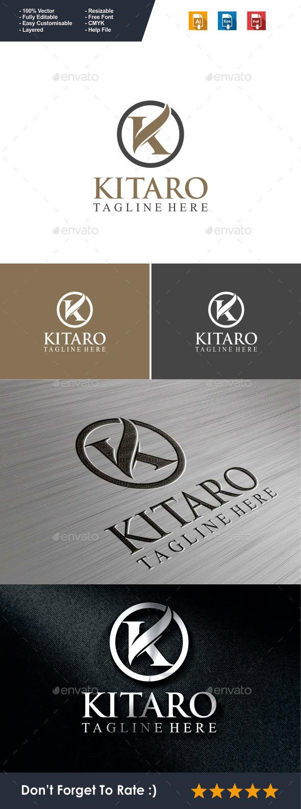 Letter K Logo - Kitaro - Letters Logo Templates