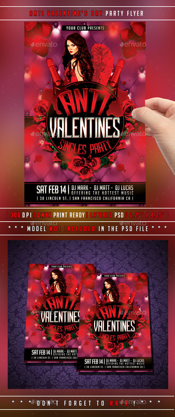 Anti Valentines Day Flyer - Events Flyers