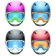 Set of Classic Ski Helmets  - GraphicRiver Item for Sale