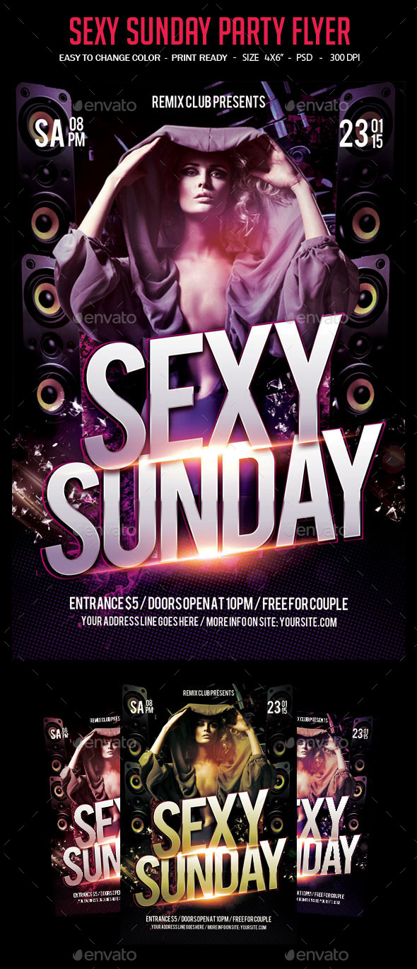 Sexy Sunday Party Flyer - Clubs & Parties Events