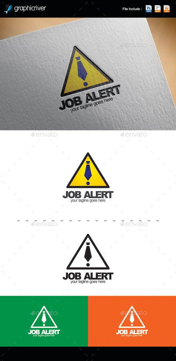 Job Alert Logo Template - Logo Templates
