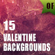15 Valentine Backgrounds - GraphicRiver Item for Sale