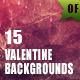 15 Valentine Backgrounds - GraphicRiver Item for Sale