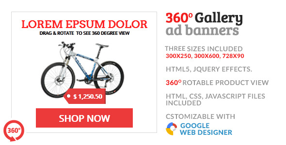 360 Gallery Product Shop GWD HTML5 Ad Banner  - CodeCanyon Item for Sale